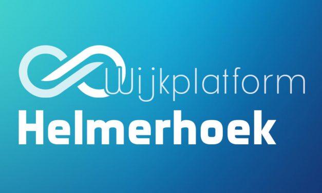 Agenda Wijkplatform Helmerhoek, dinsdag 26 november '19