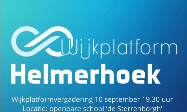 Verslag bijeenkomst Wijkplatform Helmerhoek 25 juni 2019