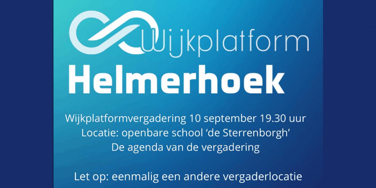 Wijkplatformvergadering Helmerhoek, dinsdag 10 september 2019