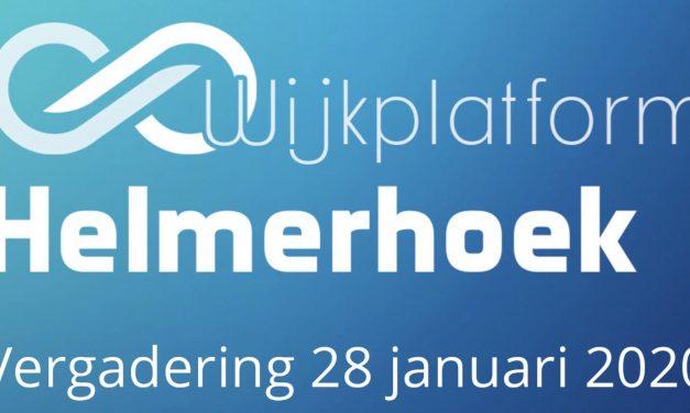 Agenda Wijkplatform Helmerhoek, dinsdag 28 januari 2020