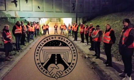 Tunnelwachters zeer in hun nopjes met een toezegging van een sponsor